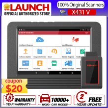 Launch X431 V pro Full System Automotive Car Diagnostic Tool with 30+ Reset Services For 10000+ Car models 2020 global version