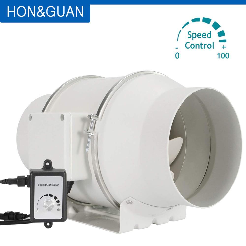 6 inline duct fan with variable speed controller ec motor ventilator 110v 240v air exhaust fans for carbon filter ventilation
