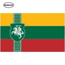 HotMeiNi naklejki samochodowe flaga narodowa litwy naklejka ścienna do okien wodoodporna winylowa naklejka na samochód Auto akcesoria motocyklowe