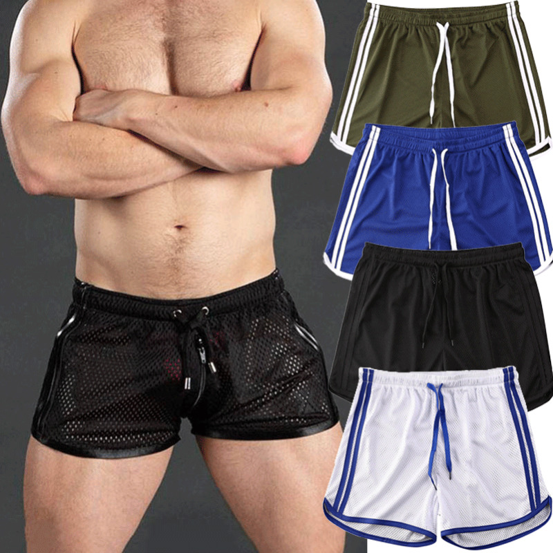 Men Summer Gym Running Shorts Training Sport Workout Casual Jogging Fitness Shorts Quick Dry Breathable Men Mesh Gym Shorts
