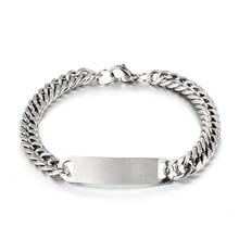 New Arrival Stainless Steel Link Chain Bracelets Mens Womens Bracelets Silver Wr