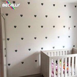 Наклейки на стену с сердечком для детской комнаты, наклейки на стену для спальни для девочек, детские наклейки на стену, украшение для комна...