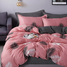 Bedding-Set Quilt-Covers-Sets Bed-Linen-Sheet Plaid King Printed 240x220 Nordic Double-Queen