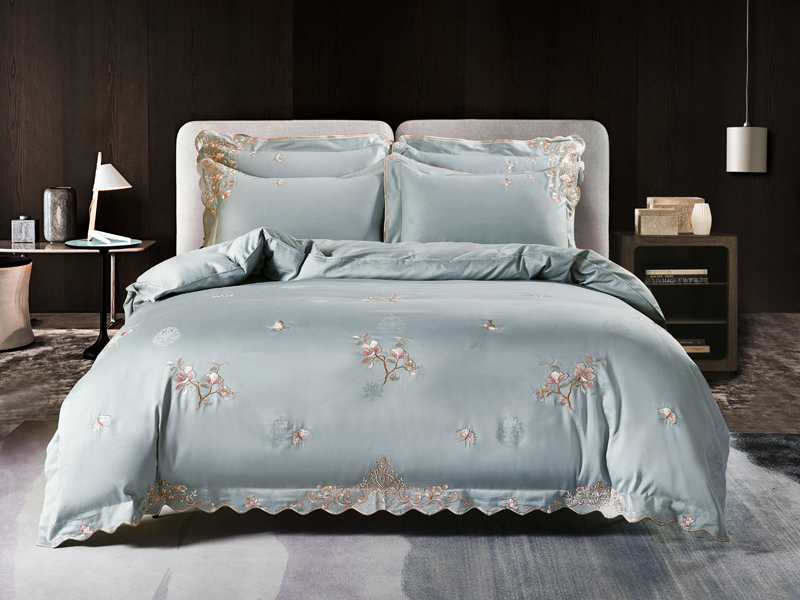 Vintage Style Chic Embroideried Duvet Cover Set 1000TC Egyptian Cotton High End Bedding Set Bed Sheet Set Soft Comfy Breathable