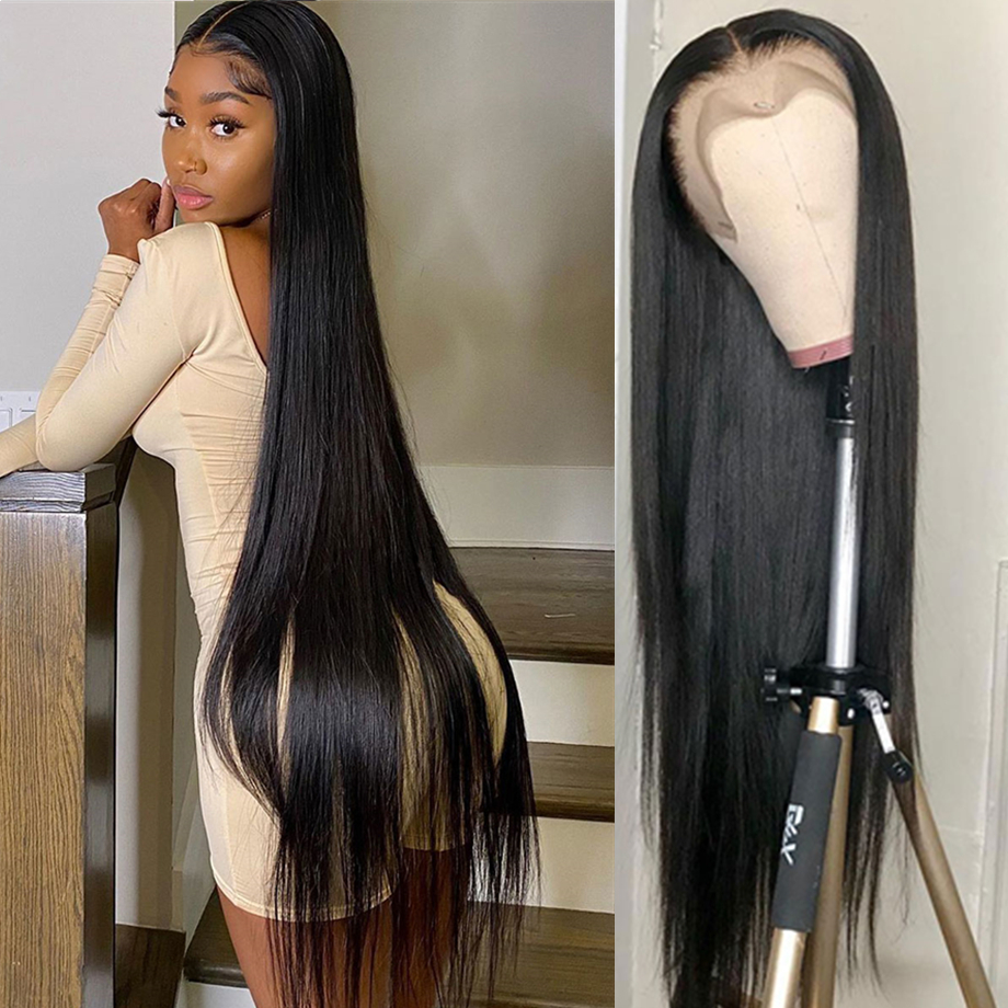 Straight  Wigs  Virgin Hair 30 Inch Lace Front Wig Short Bob Lace Frontal  Wigs  wig 1