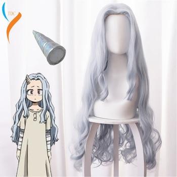 Moda de 2020, peluca de Anime My Hero Academia Eri Chisaki para mujer, peluca gris y azul, pelucas sintéticas resistentes al calor para Cosplay + gorro de peluca gratis