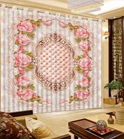 Saco Macio de rosas 3D cortina blackout sala Quarto hotel home decor casa e jardim vendedor top cortinas