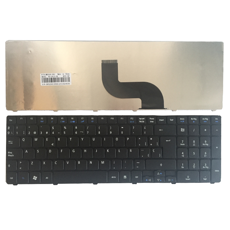 Spanish Keyboard For Acer Aspire 5733 5733Z 5250 5340 5349 5360 5750 5750G 5750ZG 5800 5810 5741Z 5742 Black SP Teclado Keyboard