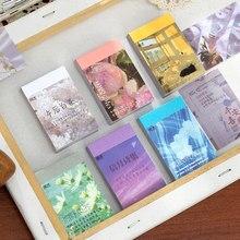 Journamm 50 pçs washi adesivos ins estilo cena bonita cartões para deco scrapbooking lomo cartões de papelaria notas pegajosas