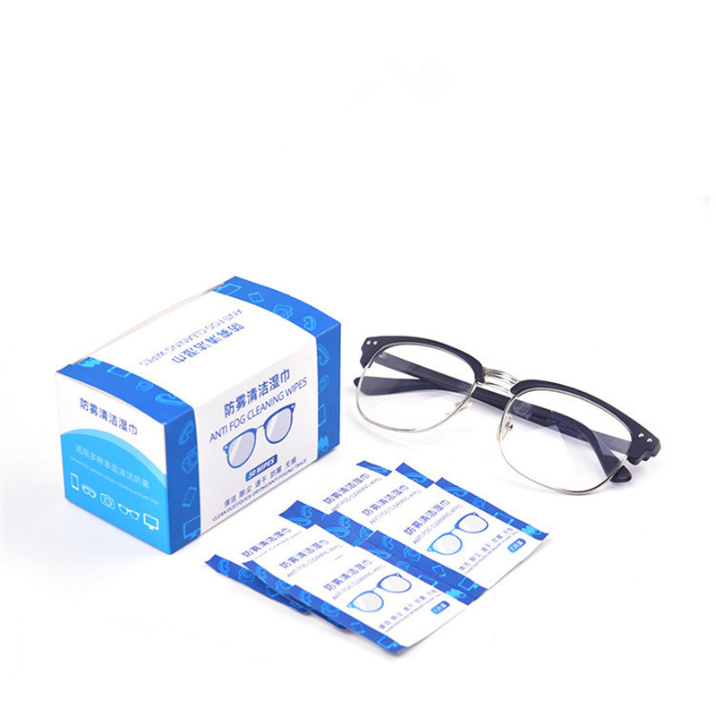 Fogproof Cleaning Wipes Tissue Paper Wipe Pad Cloth For Eyeglasses Mirrors Lens Goggles Last 24 Hours Swap Antiseptic Skin Clean