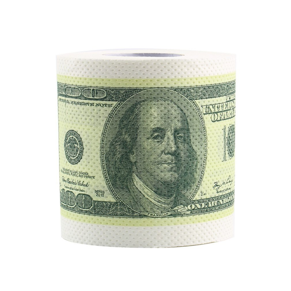 1 adet sıcak Donald Trump dolar Bill para tuvalet kağıdı mizah $100 TP para rulo yenilik eğlenceli gag hediye sıcak