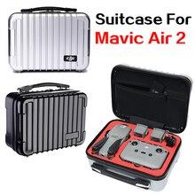 DJI Mavic الهواء 2 الطائرة بدون طيار هارد شل حقيبة السفر المحمولة حمل أجزاء الملحقات مقاوم للماء حقيبة التخزين سعة كبيرة