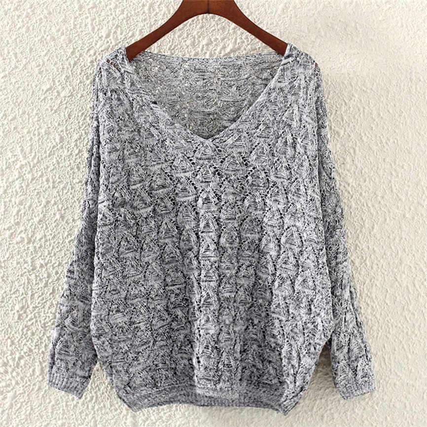 Новинка; женский Однотонный свитер с длинными рукавами; свободный воротник; свитер высокого качества; теплый зимний свитер