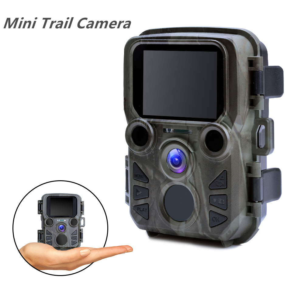 Mini Trail Game Camera Night Vision 1080P 12MP Waterproof Hunting Camera Outdoor Wild photo traps with IR LEDS Range Up To 65ft