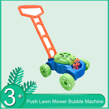 Creative Hand-pushed Lawn Mower Bubble Machine Toy Home Gard