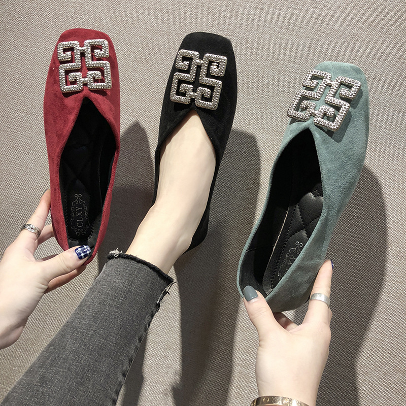 Hot Selling Shoes 2019 Europe And America New Style Flat Women's Fashion Boat Shoes Versatile Loafers Work Shoes Comfortable Kor