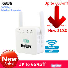 300Mbps Wireless Repeater Wifi Extender2019 Eksternal Baru Wi-fi Range Extender WiFi Penguat Sinyal 2.4G AP Router 2 Pcs antena(China)