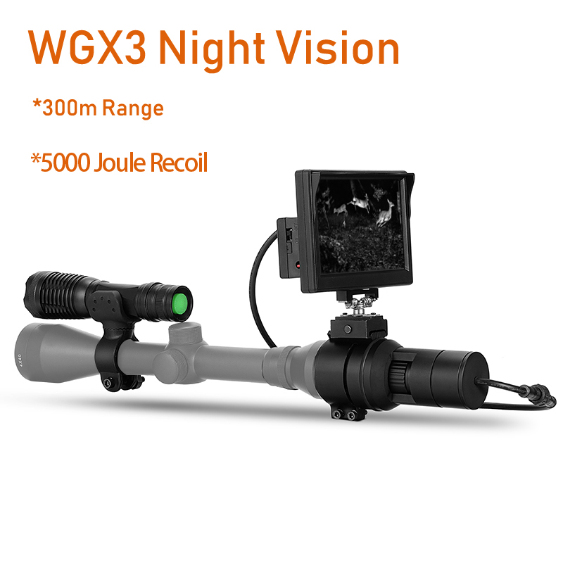 WGX3 HD Night Vision Rilfescope 1280x720 Display Night Vision Hunting Scope Digital IR Night Vision Scope Optical 200M Range