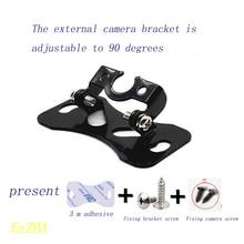 Adjustable angle seat of iron shelf recorder for reversing rear view camera outside universal vehicle mounted camera bracket