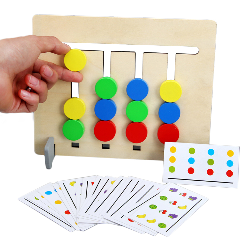 Matching Game Logical Reasoning Training Double-sided Fruit Pairing Children Wooden Toys Kids Educational Toys Montessori Gifts