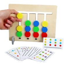 Jeu en bois pour enfants, entraînement au raisonnement logique, appairage de fruits Double face, jouets éducatifs, cadeaux Montessori