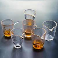 Japanese Style Glass Fair Cup Simple with Glod Rim Tea Maker Kung Fu Tea Lique Divider Gongdao Mug Teaware