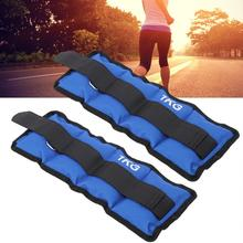 1KG Sand Bag 2 Pcs New Leg Ankle Wrist Sand Bag Weights Strap Strength Training Equipment for Gym Fitness Yoga Running Accessory