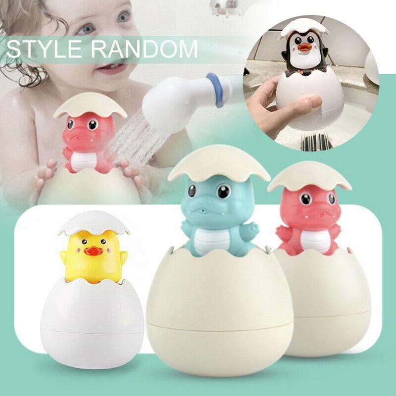 Baby Shower Toy Cute Water Spray Ducklings Penguin Eggs Sprinkler Bathroom Sprinkling Swimming Children Playing Toys