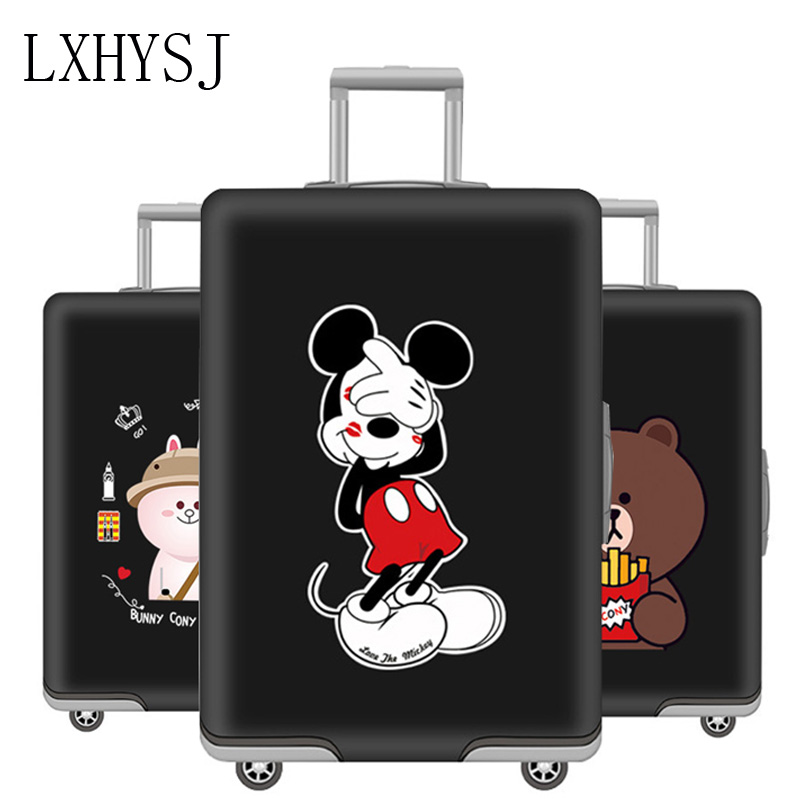 Animal Pattern Luggage Protective Cover Elastic Dust Cover Suitable For 19-32 Inch Suitcase Trolley Case Dust Cover