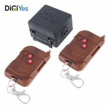 433Mhz Universal Wireless Remote Control Switch DC 12V 1CH with 2 Transttemirs for Electrical Equipment New Style