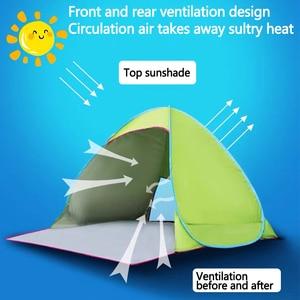 Image 2 - Tente de plage ultralégère pliante et ouverte automatique, pare soleil Anti UV, pour le Camping familial, expédition depuis RU