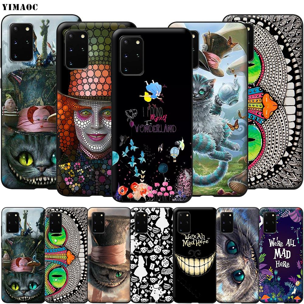Alice in Wonderland Cat <font><b>Case</b></font> for <font><b>Samsung</b></font> <font><b>Galaxy</b></font> A7 A8 A9 A10 A20 A30 A40 A50 <font><b>A70</b></font> S10 Plus S20 Ultra Note 10 Lite A51 A71 A81 A91 image