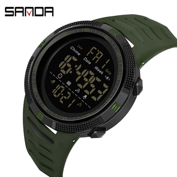 Fashion Men LED Digital Watch Waterproof Date Military Sport Rubber Quartz Alarm Watches Reloj Hombre 2020 - discount item  30% OFF Men's Watches