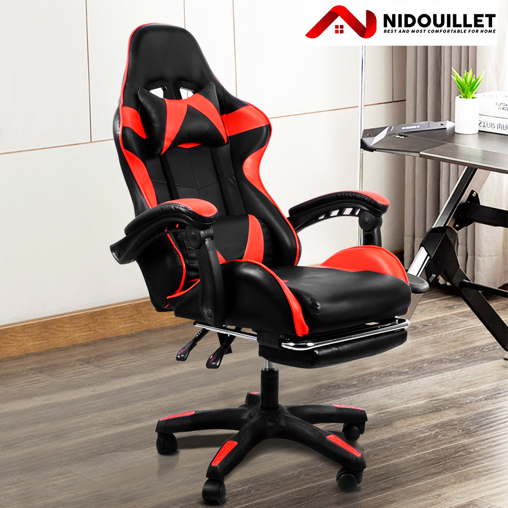 Nidouillet Office Chair Gamer Chair Gaming Chair Silla  Gamer Chair Workbench Chair with Headrest Computer Chair Furniture AB065