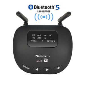 Image 1 - 3 In 1 Bluetooth 5.0 Transmitter Receiver Long Range 3.5mm Wireless Audio Adapter for TV Headphone aptX LL/HD Low Latency RCA