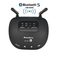 3 em 1 bluetooth 5.0 transmissor receptor longo alcance 3.5mm adaptador de áudio sem fio para tv fone de ouvido aptx ll/hd baixa latência rca