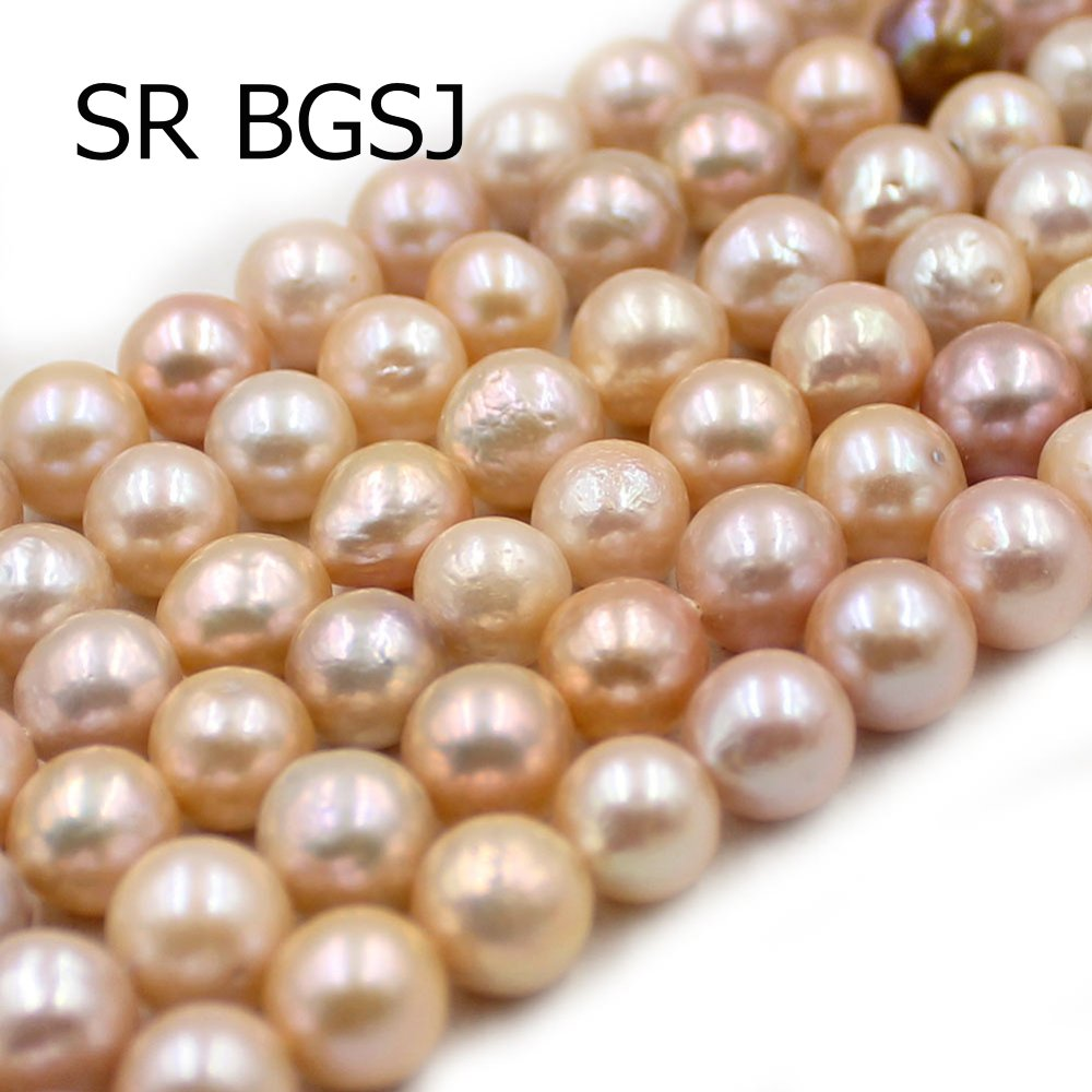 Free Shipping 8-9mm Natural Round Mixed Color Freshwater Pearl Loose Beads Strand 15""