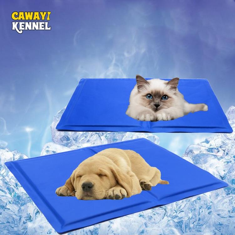 CAWAYI KENNEL Dog Cooling Mat font b Pet b font Ice Pad Teddy Mattress font b