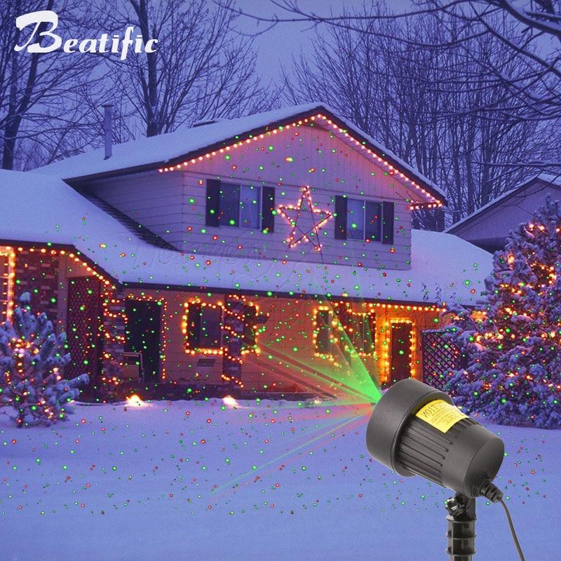 a laser luzes do jardim de natal 02