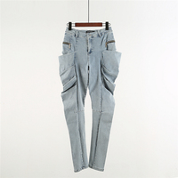 Owen Seak Men Denim Jeans Formal High Street Men's Clothing Hip Hop Spring Straight Men Solid Jeans Pants Size XL