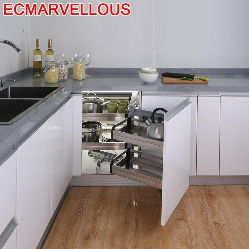 Para Armario Cestas Corredera égouttoir à vaisselle placard inox Cozinha organisateur Cuisine armoires de Cuisine panier de rangement