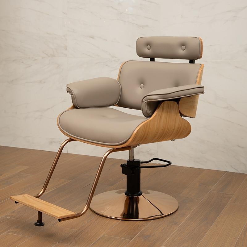 Shaking The Same Hair Salon Hair Net Red Hairdressing Chair Barber Shop Modern Haircut Chair Can Be Put Down Barber Chair