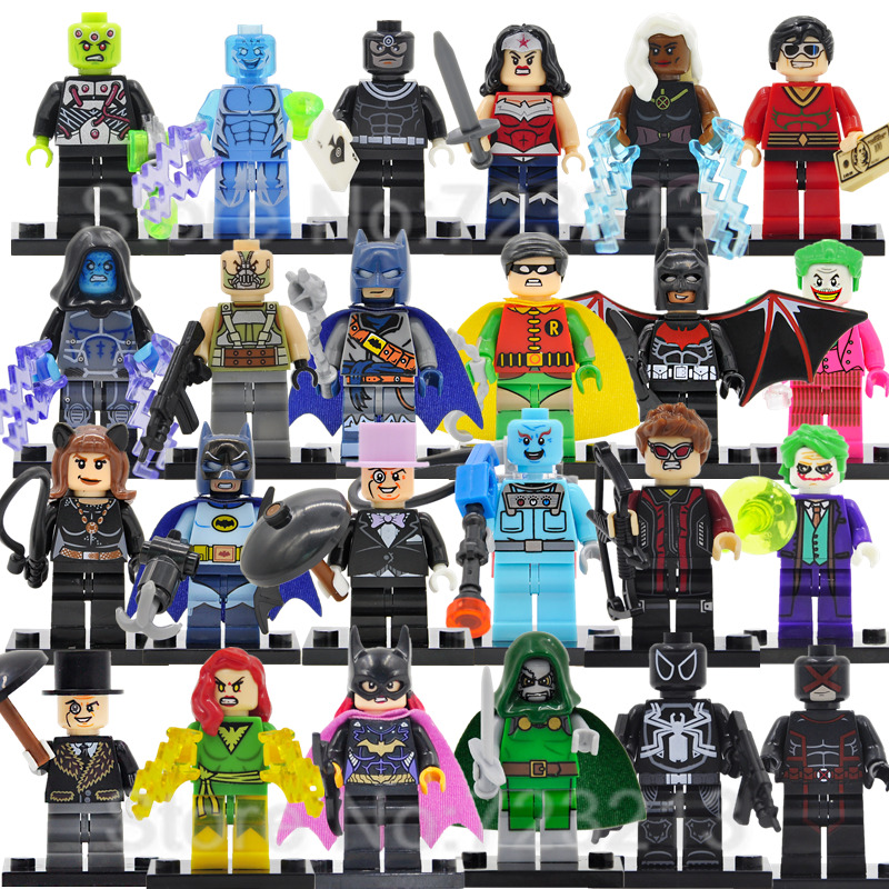 Single Super Hero Jean Grey Cyclops Figure Mr Freeze Pirate Batman Brainiac Bane Electro Storm Building Blocks Toys Legoing
