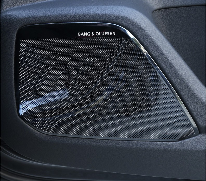 For Audi A6 C8 A7 4KA 2018 2019 Car Styling Door Loudspeaker Sound Chrome Speaker Cover Trim Frame Sticker Interior Accessories