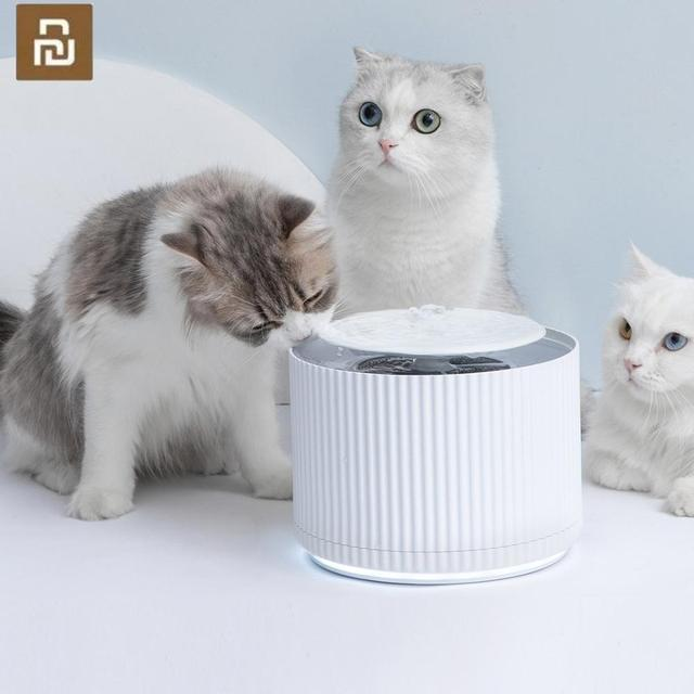 YouPin Smart Cat Pet Water Dispenser Water Purifier 5 Layer Filter 360 Degree Open Drinking Tray Animal Drinking Fountain