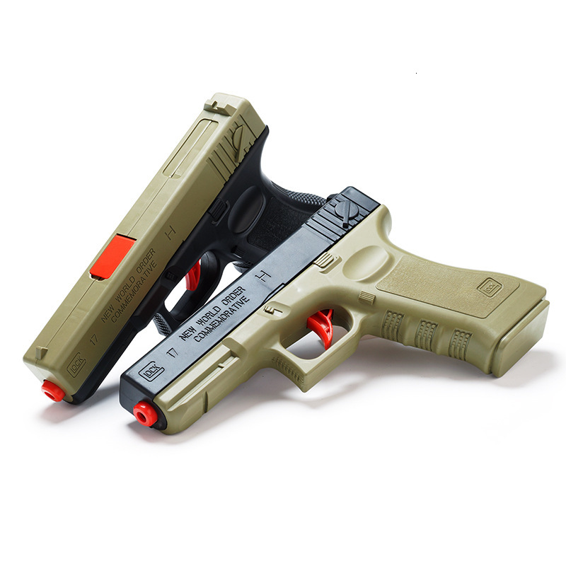 Outdoors Water Bullet Pistol Glock Toy Shooting  Battle Games Soft Bullet Plastic Manual  Toys For Children Boys Gifts