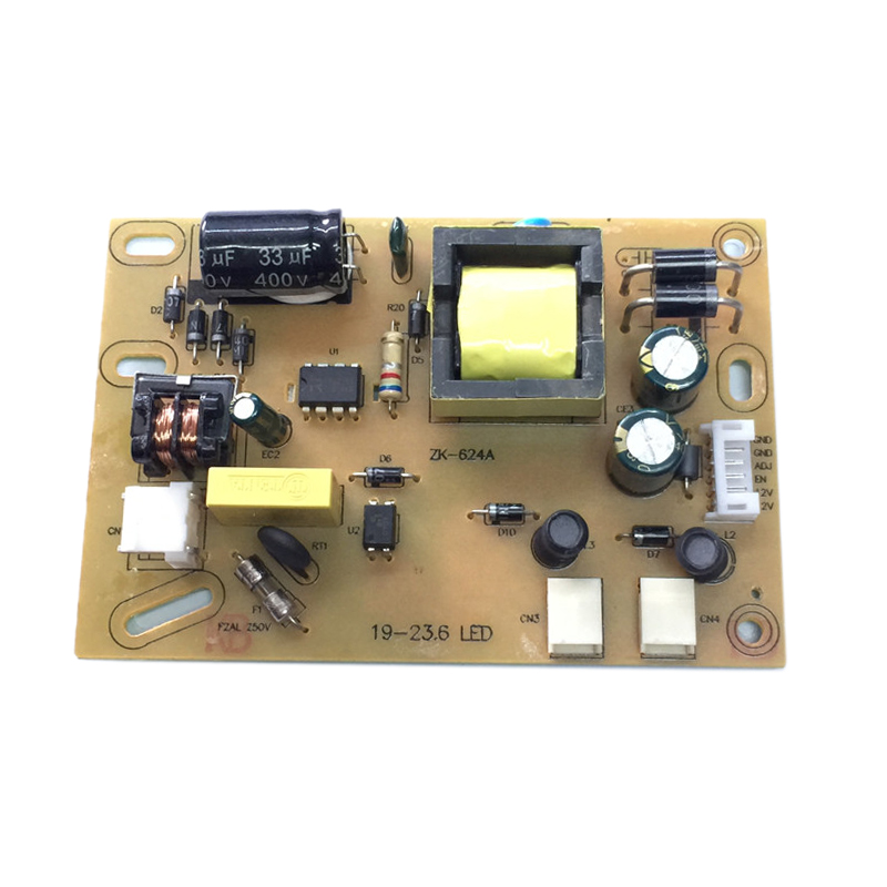 ZK-324B JMX-002 220V Power And Backlight 2 In 1 Adapter Converter Board For 19-23.6 Inch LED 2 Lamp Panel LVDS With 6P Cable AC-