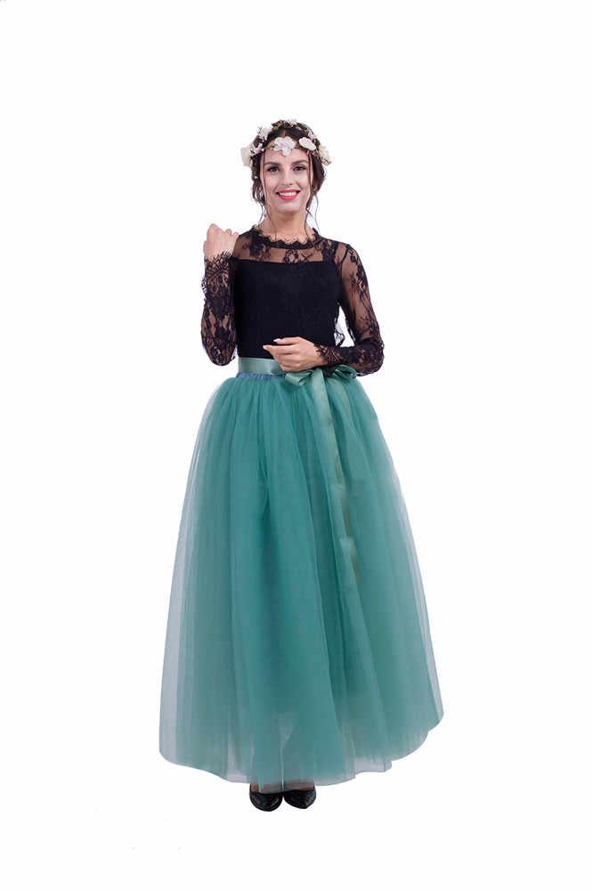 สีดำยาว Petticoat ชุดแต่งงาน Crinoline Underskirt เจ้าสาวอุปกรณ์เสริม 2020 ผู้หญิง Tulle กระโปรงครึ่ง Slips