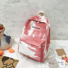 Tie-dyed canvas Women Backpack High quality Schoolbags for Teenage girls Travel Backpack  College student Book bag