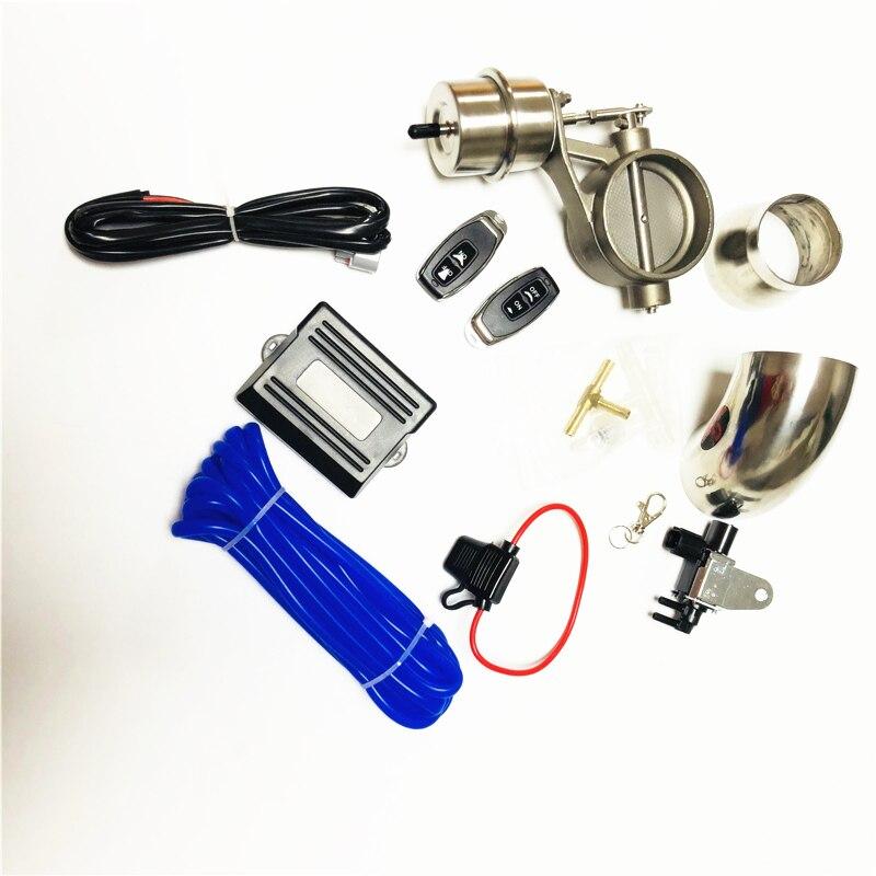 Заводской прямой 1 комплект управления выпускной клапан/вырез беспроводной пульт дистанционного управления Лер переключатель для автомобиля выхлопной системы комплект управления 51.60.63.70.76MM - Цвет: FULL SET 76MM